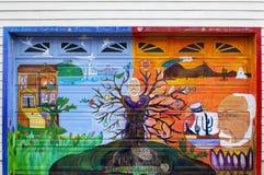 Malowidło ścienne w misja okręgu Zdjęcia Royalty Free