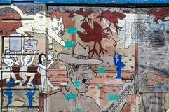 Malowidło ścienne w misja okręgu Zdjęcie Stock