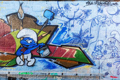 Malowidło ścienne w odważniaku, Niemcy Obrazy Stock