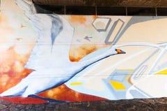 Malowidło ścienne w odważniaku, Niemcy Fotografia Royalty Free