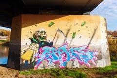 Malowidło ścienne w odważniaku, Niemcy Obraz Stock