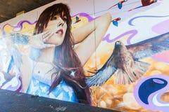 Malowidło ścienne w odważniaku, Niemcy Zdjęcia Stock