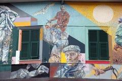 Malowidło ścienne w Riomaggiore, Włochy Obrazy Royalty Free