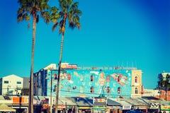 Malowidło ścienne w Wenecja plaży Zdjęcia Stock
