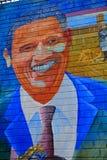 Malowidło ścienne z Barack Obama, Belfast, Północny - Ireland obrazy stock