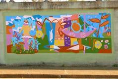 Malowidło ścienne Zamożna Żeńska bywalec obrazy stock