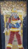 Malowidło ścienne sztuka w Ushuaia, Argentyna Zdjęcie Royalty Free