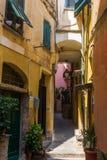 Malownicza aleja w Vernazza, Cinque Terre, Włochy Zdjęcie Royalty Free