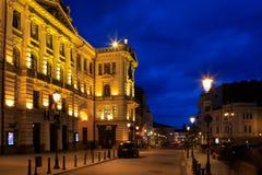Malownicza Ausros vartu ulica przy nocą Obraz Stock