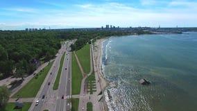 Malownicza autostrada wzdłuż morze bałtyckie linii zbiory wideo
