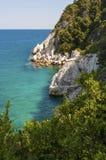 Malownicza Damouchari plaża przy Pelion w Grecja Obraz Royalty Free