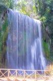 Malownicza duża siklawa otaczająca zielonym lasem Zdjęcie Stock