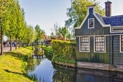 Malownicza etnograficzna wioska Zanes-Schans Holandie Fotografia Royalty Free
