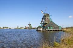 Malownicza etnograficzna wioska Zanes-Schans Holandie Zdjęcie Royalty Free