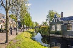 Malownicza etnograficzna wioska Zanes-Schans Holandie Obrazy Stock