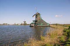 Malownicza etnograficzna wioska Zanes-Schans Holandie Zdjęcia Royalty Free