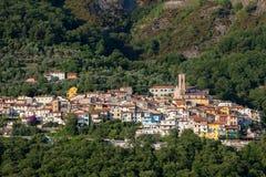 Malownicza górska wioska Zdjęcia Royalty Free