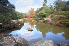 Malownicza laguna przy Mt Tomah w jesieni Zdjęcia Royalty Free