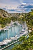 Malownicza mała zatoka - Calanques zdjęcia royalty free