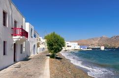 Malownicza nadmorski Agia Marina wioska w Leros wyspie, Grecja Obrazy Royalty Free