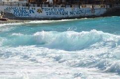 Malownicza plaża Matala zdjęcia stock
