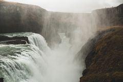 Malownicza siklawa, Iceland Północna natura obrazy royalty free
