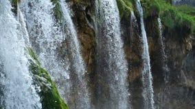 Malownicza siklawy sceneria w Plitvice jezior parku narodowym zbiory