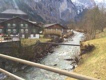 Malownicza Szwajcarska dolina Zdjęcia Royalty Free