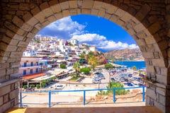 Malownicza wioska Agia Galini przy Południowym Crete, Grecja Obrazy Royalty Free