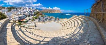 Malownicza wioska Agia Galini przy Południowym Crete, Grecja Obraz Stock