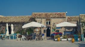 Malownicza wioska Marzamemi prowincja Syracuse, Sicily, Włochy zdjęcia stock