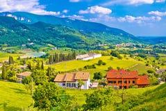 Malownicza wioska Pazzon gór i doliny widok Fotografia Royalty Free