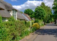 Malownicze chałupy widzieć w Angielskiej kraj wiosce Obrazy Royalty Free