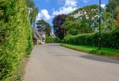 Malownicze chałupy widzieć w Angielskiej kraj wiosce Zdjęcia Royalty Free