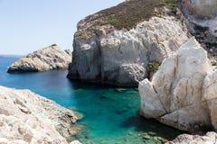 Malownicze plaże Milos wyspy, Cyclades, Grecja Zdjęcie Stock