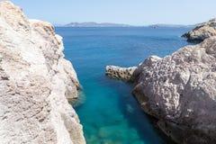 Malownicze plaże Milos wyspy, Cyclades, Grecja Obrazy Stock