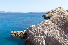 Malownicze plaże Milos wyspy, Cyclades, Grecja Zdjęcia Stock