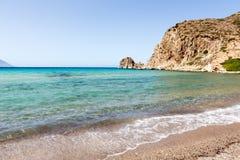 Malownicze plaże Milos wyspy, Cyclades, Grecja Obraz Stock