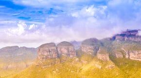 Malowniczego blyde rzeczny jar i trzy rondavels w Panarama r obrazy stock