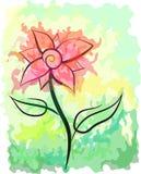 malowniczy abstrakcjonistyczny kwiat royalty ilustracja