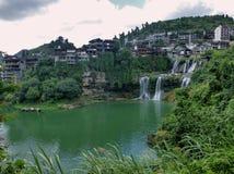 Malowniczy antyczny miasteczko w prowincja hunan w Chiny - poślubnika miasteczko Obrazy Royalty Free