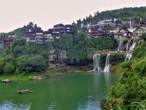 Malowniczy antyczny miasteczko w prowincja hunan w Chiny - poślubnika miasteczko Fotografia Stock