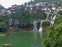 Malowniczy antyczny miasteczko w prowincja hunan w Chiny - poślubnika miasteczko Zdjęcia Royalty Free