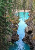 Malowniczy athabasca spada rzeczny Canada Fotografia Royalty Free