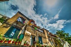 Malowniczy budynki w światowym sławnym Positano zdjęcia stock