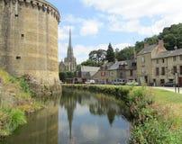 Malowniczy Fougeres, Brittany Zdjęcia Royalty Free