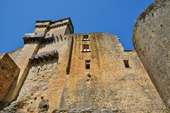 Malowniczy kasztel Castelnaud w Dordogne obraz stock