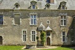 Malowniczy kasztel Talcy w Loir et Cher Zdjęcia Stock
