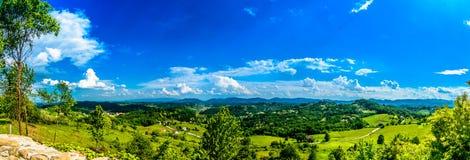 Malowniczy krajobraz w Zagorje regionie, Chorwacja zdjęcia stock