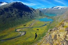 malowniczy krajobrazowy halny Norway Zdjęcia Royalty Free